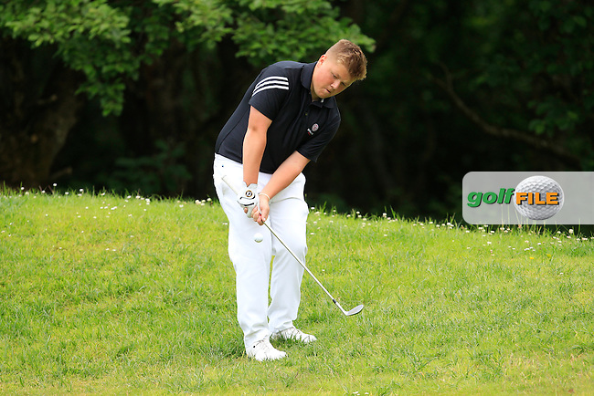 Max Martin (England) on the 8th green during Round 3 of the Irish Boys Amateur Open Championship at Tuam Golf Club on Thursday 25th June 2015.<br /> Picture:  Thos Caffrey / www.golffile.ie