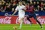 Toni Kroos of Real Madrid (L) fights for the ball with Jefferson Lerma of Levante UD (R) during the La Liga 2017-18 match between Levante UD and Real Madrid at Estadio Ciutat de Valencia on 03 February 2018 in Valencia, Spain. Photo by Maria Jose Segovia Carmona / Power Sport Images