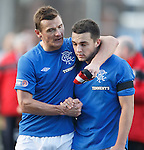 Lee McCulloch congratulates central defensive partner Chris Hegarty at the end of the match