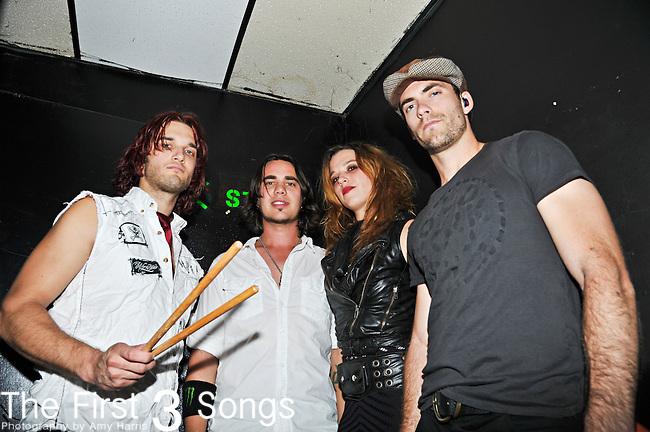 Arejay Hale, Joe Hottinger, Lzzy Hale, and Josh Smith of Halestorm perform at Bogarts in Cincinnati, Ohio.