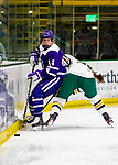 2 February 2020: Holy Cross Crusader Defender Allison Attea, a Junior from Buffalo, NY, in second period action against the University of Vermont Catamounts at Gutterson Fieldhouse in Burlington, Vermont. The Lady Cats rallied in the 3rd period to tie the Crusaders 2-2 in NCAA Women's Hockey East play. Mandatory Credit: Ed Wolfstein Photo *** RAW (NEF) Image File Available ***