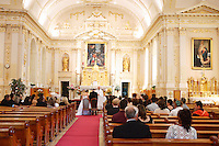 Charlesbourg (Qc) Canada - sept 5 2009- Catholic wedding in historic Saint-Charles Borromee Church in Charlesbourg  suburb of Quebec City