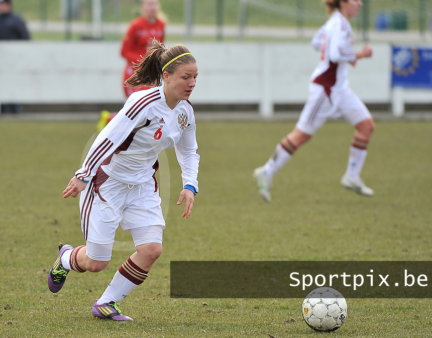 Switzerland U19 - Russia U19 : Margarita Chernomyrdina.foto DAVID CATRY / Nikonpro.be