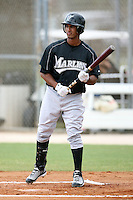 April 14, 2009:  Second Baseman Ernesto Manzanillo of the Florida Marlins extended spring training team during a game at Roger Dean Stadium Training Complex in Jupiter, FL.  Photo by:  Mike Janes/Four Seam Images