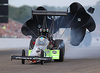 Aug 20, 2017; Brainerd, MN, USA; NHRA top fuel driver Clay Millican during the Lucas Oil Nationals at Brainerd International Raceway. Mandatory Credit: Mark J. Rebilas-USA TODAY Sports