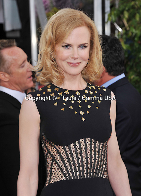 a _Nicole Kidman  at the 70th Golden Globes Awards 2013 at the  Hilton Hotel In Beverly Hills.
