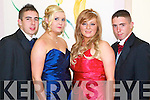 Tony Cuningham Lisha Fitzgerald, Rachel Sheehy and Stephen McCarthy pictured at Causeway Comprehensive Debs Ball at the Ballyroe Heights hotel on Thursday.