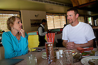 """Robyn Wright,38 (Left) and Jason Wright,44 (Right) is an American couple from Wyoming, USA, who are new surrogacy clients of the Akanksha Infertility Clinic in Anand, Gujarat. India...- Robyn works as a nail tech. in Wilson, a town with reportedly among the highest per capita incomes in the US. .- Robyn's monthly income ranges between $ 3,000-5,000. Jason works as a guide in national parks and earns about $ 150 per day. .- They've been saving up for three years to be able to afford the surrogacy in India, which will cost them about $ 25,000 (not including travel costs).- Robyn has a 14-year-old daughter from her first marriage but had to have a partial hysterectomy a month after delivery due to a medical complication. ..Quotes..""""To get us back here [to try again for surrogacy in India in case it doesn't work out this time], I would have to work everyday in the summer. I'll start selling my possessions, if I have to."""" - Jason.""""I definitely relate with the surrogates to the extent that everybody has to sell their soul to earn money."""" - Jason.""""A girl-friend offered to be a surrogate but that would have been harder. It would have led to complex emotions."""" - Robyn.., where some surrogate mothers stay, in the small town of Anand, Gujarat, India. The Akanksha Infertility Clinic is known internationally for its surrogacy program and currently has over a hundred surrogate mothers pregnant in their environmentally controlled surrogate houses. .Photo by Suzanne Lee"""