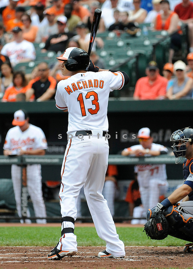 Baltimore Orioles Manny Machado (13)  during a game against the Detroit Tigers on June 2, 2013 at Oriole Park in Baltimore, MD. The Orioles beat the Tigers 4-2.