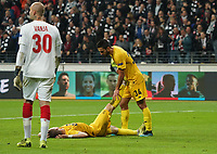 Enttäuschung bei Liege - 24.10.2019:  Eintracht Frankfurt vs. Standard Lüttich, UEFA Europa League, Gruppenphase, Commerzbank Arena<br /> DISCLAIMER: DFL regulations prohibit any use of photographs as image sequences and/or quasi-video.