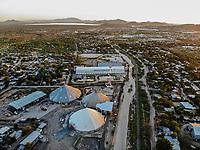 Aerial view of wineries and mills in the ejido La Victoria. Molino La Fama, flour from Los Gallos<br /> &nbsp; (Photo: Luis Gutierrez / NortePhoto.com)...<br /> <br /> Vista a&eacute;rea de bodegas y molinos en el ejido la Victoria.  Molino La Fama, harina marca Los Gallos<br />  (Foto: Luis Gutierrez / NortePhoto.com)