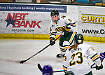 2 February 2020: University of Vermont Catamount Forward Olivia Kilberg, a Junior from Edina, MN, in overtime action against the Holy Cross Crusaders at Gutterson Fieldhouse in Burlington, Vermont. The Lady Cats rallied in the 3rd period to tie the Crusaders 2-2 in NCAA Women's Hockey East play. Mandatory Credit: Ed Wolfstein Photo *** RAW (NEF) Image File Available ***