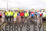 START: The start of the Emergency Services Charity Cycle at the Kerins O'Rahillys GAA club on Saturday.