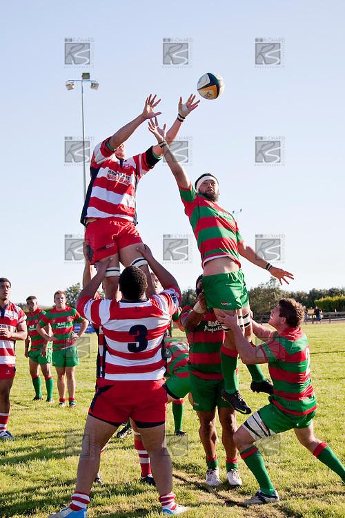 Counties Manukau Premier Club Rugby game bewtween Waiuk & Karaka played at Waiuku on Saturday April 11th, 2010..Karaka won the game 24 - 22 after leading 21 - 9 at halftime.