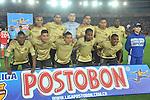 BOGOTÁ – COLOMBIA _ 24-01-2014 / En compromiso correspondiente a la primera jornada del Torneo Apertura Colombiano 2014, Independiente Santa Fe goleó 3 – 0 a Itagüí en juego que se llevó a cabo en el estadio Nemesio Camacho El Campín de Bogotá. / Nómina inicial del Itagüí.