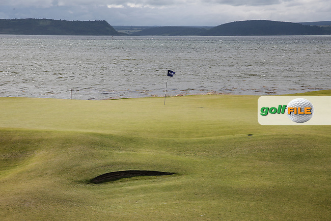 View of the 3rd green during Round One of the 2016 Aberdeen Asset Management Scottish Open, played at Castle Stuart Golf Club, Inverness, Scotland. 07/07/2016. Picture: David Lloyd | Golffile.<br /> <br /> All photos usage must carry mandatory copyright credit (&copy; Golffile | David Lloyd)