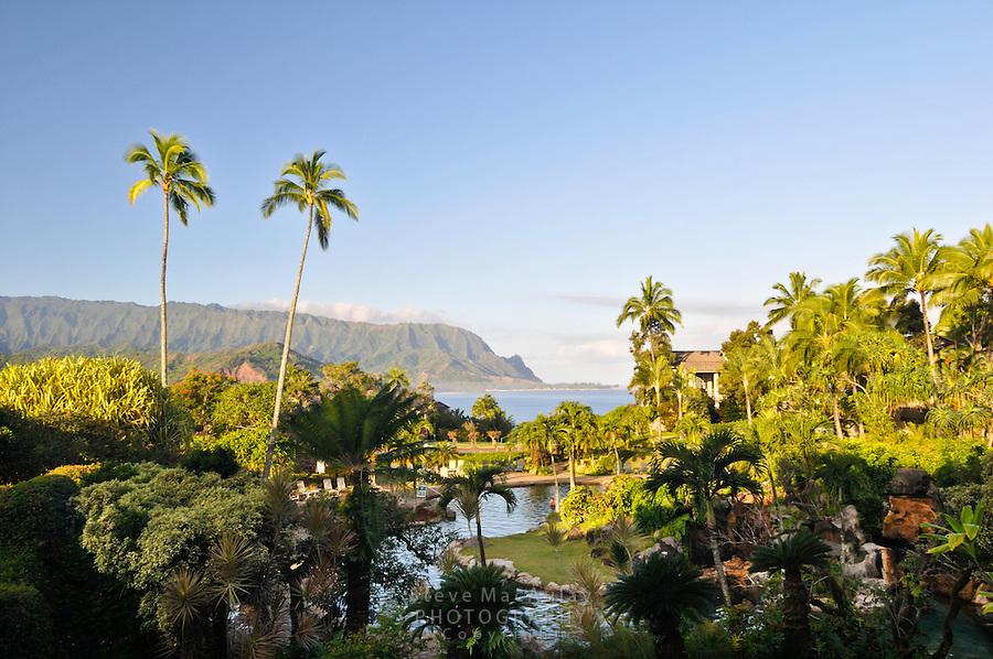 Hanalei Bay view from Hanalei Bay Resort, Princeville, Kauai