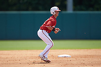 J.T. Jarrett (42) of the North Carolina State Wolfpack takes his lead off of second base against the Army Black Knights at Doak Field at Dail Park on June 3, 2018 in Raleigh, North Carolina. The Wolfpack defeated the Black Knights 11-1. (Brian Westerholt/Four Seam Images)