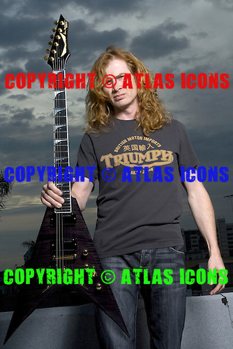DAVE MUSTAINE, MEGADETH, SESSION, 2008,  NEIL ZLOZOWER