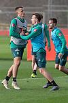 10.01.2020, Sportzentrum RCD Mallorca, Son Bibiloni, ESP, TL Werder Bremen -  Training Tag 07<br /> <br /> im Bild / picture shows <br /> <br /> Maximilian Eggestein (Werder Bremen #35)<br /> Christian Groß / Gross (Werder Bremen #36)<br /> Sebastian Langkamp (Werder Bremen #15)<br /> <br /> Foto © nordphoto / Kokenge