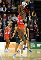 03.09.2017 England's Ama Agbeze in action during the Quad Series netball match between England and South Africa at the ILT Stadium Southland in Invercargill. Mandatory Photo Credit ©Michael Bradley.