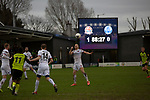 AFC Fylde 1, Aldershot Town 0, 14/03/2020. Mill Farm, National League. Second-half action as AFC Fylde (in white) took on Aldershot Town in a National League game at Mill Farm, Wesham. The fixture was played against the backdrop of the total postponement of all Premier League and EFL football matches due to the the coronavirus outbreak. The home team won the match 1-0 with first-half goal by Danny Philliskirk watched by a crowd of 1668. Photo by Colin McPherson.