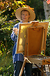 Lady artist creating a painting