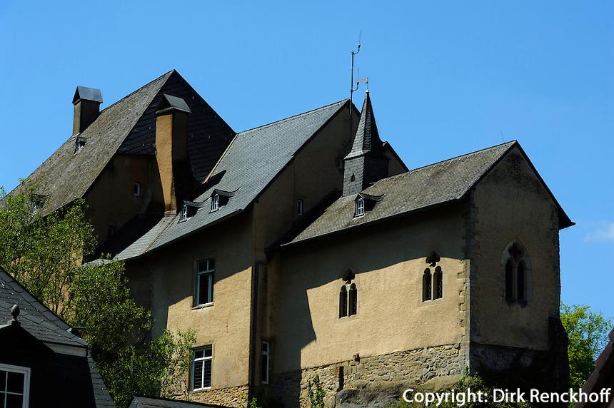 Gotische Kapelle in der Burg von in Bourglinster, Luxemburg