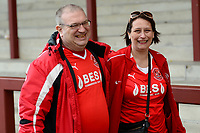 Fleetwood fans smile at the end of the match<br /> <br /> Photographer Richard Martin-Roberts/CameraSport<br /> <br /> The EFL Sky Bet League One - Fleetwood Town v Millwall - Monday 17th April 2017 - Highbury Stadium - Fleetwood<br /> <br /> World Copyright &copy; 2017 CameraSport. All rights reserved. 43 Linden Ave. Countesthorpe. Leicester. England. LE8 5PG - Tel: +44 (0) 116 277 4147 - admin@camerasport.com - www.camerasport.com