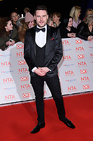 Danny Miller at the National Television Awards 2018 at the O2 Arena, Greenwich, London, UK. <br /> 23 January  2018<br /> Picture: Steve Vas/Featureflash/SilverHub 0208 004 5359 sales@silverhubmedia.com