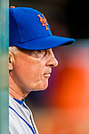 28 April 2017: New York Mets Manager Terry Collins stands watch in the dugout prior to a game against the Washington Nationals at Nationals Park in Washington, DC. The Mets defeated the Nationals 7-5 to take the first game of their 3-game weekend series. Mandatory Credit: Ed Wolfstein Photo *** RAW (NEF) Image File Available ***