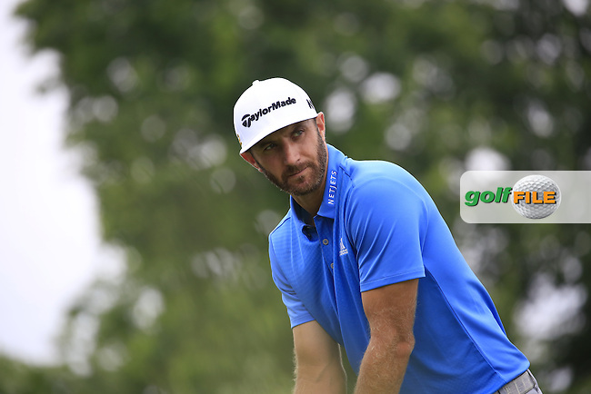 Dustin Johnson (USA) tees off the 3rd tee during Friday's Round 1 of the 2016 U.S. Open Championship held at Oakmont Country Club, Oakmont, Pittsburgh, Pennsylvania, United States of America. 17th June 2016.<br /> Picture: Eoin Clarke | Golffile<br /> <br /> <br /> All photos usage must carry mandatory copyright credit (&copy; Golffile | Eoin Clarke)