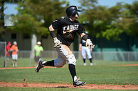 Edgewood Eagles Pat Manning (4) during the second game of a doubleheader against the Plymouth State Panthers on March 17, 2015 at Terry Park in Fort Myers, Florida.  Edgewood defeated Plymouth State 9-2.  (Mike Janes/Four Seam Images)