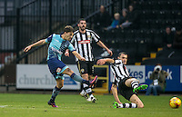 Scott Kashket of Wycombe Wanderers hits a shot at goal during the Sky Bet League 2 match between Notts County and Wycombe Wanderers at Meadow Lane, Nottingham, England on 10 December 2016. Photo by Andy Rowland.