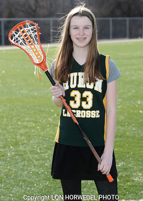 Huron High School girl's junior varsity lacrosse team. 4-2-14