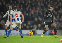 Burnley's Dwight McNeil (right) vies for possession with Brighton & Hove Albion's Dale Stephens (left) <br /> <br /> Photographer David Horton/CameraSport<br /> <br /> The Premier League - Brighton and Hove Albion v Burnley - Saturday 9th February 2019 - The Amex Stadium - Brighton<br /> <br /> World Copyright © 2019 CameraSport. All rights reserved. 43 Linden Ave. Countesthorpe. Leicester. England. LE8 5PG - Tel: +44 (0) 116 277 4147 - admin@camerasport.com - www.camerasport.com