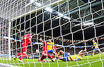 Solna 2015-10-12 Fotboll EM-kval , Sverige - Moldavien :  <br /> Sveriges John Guidetti med en m&aring;lchans under matchen mellan Sverige och Moldavien <br /> (Photo: Kenta J&ouml;nsson) Keywords:  Sweden Sverige Solna Stockholm Friends Arena EM Kval EM-kval UEFA Euro European 2016 Qualifying Group Grupp G Moldavien Moldova