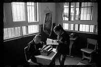 Blind and visually impaired Tibetan students study at the School for the Blind in Tibet, in the capital city of Lhasa, September 2016. The school was founded in 1999 and currently has 28 students on campus.