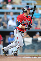 Rome Braves catcher Chase Anselment #37 swings at a pitch during a game against the Asheville Tourists at McCormick Field on July 25, 2013 in Asheville, North Carolina. The Tourists won the game 9-6. (Tony Farlow/Four Seam Images)