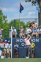 Beau Hossler (USA) watches his tee shot on 1 during round 4 of the Houston Open, Golf Club of Houston, Houston, Texas. 4/1/2018.<br /> Picture: Golffile | Ken Murray<br /> <br /> <br /> All photo usage must carry mandatory copyright credit (&copy; Golffile | Ken Murray)