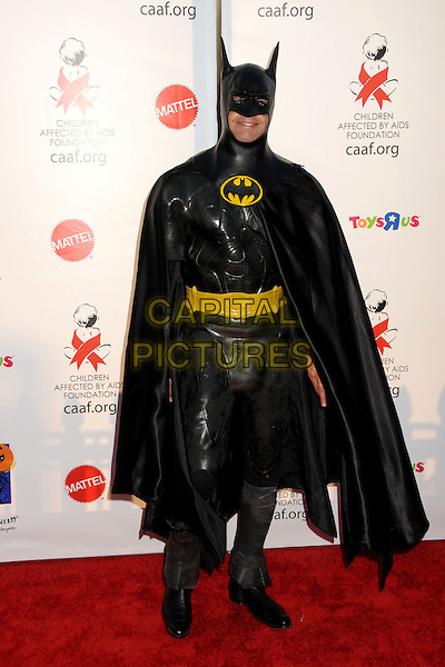 DAVID CHARVET .17th Annual Dream Halloween Benefit for the Children Affected by Aids Foundation held at Barker Hangar, Santa Monica, California, USA, .30th October 2010..full length costume pvc outfit dressed up batman cloak cape suit black pvc mask .CAP/ADM/BP.©Byron Purvis/AdMedia/Capital Pictures.