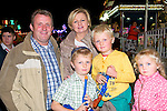 Wren Boy Night : Attending the all Ireland Wren Boy Competition in Listowel on Friday night last were Eoghan & Yvonne O'Neill, Ballylongford with their children  Dan,  Ross & Diana.