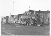 K-37 #492 next to roundhouse.<br /> D&amp;RGW  Durango, CO
