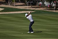 Ashun Wu (CHN) on the 8th fairway during Round 1 of the Abu Dhabi HSBC Championship 2020 at the Abu Dhabi Golf Club, Abu Dhabi, United Arab Emirates. 16/01/2020<br /> Picture: Golffile | Thos Caffrey<br /> <br /> <br /> All photo usage must carry mandatory copyright credit (© Golffile | Thos Caffrey)