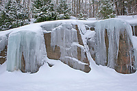Ice on rock. Muskoka Country.<br />