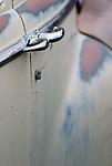 Detail, old automobile, Shaniko, Oregon