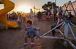 MISRATA, LIBYA &mdash; <br /> <br /> Families enjoy an evening at a local recreation park next to Misrata's main open-air market.  Despite it's proximity to Sirte, ISIS's main area of control, Misrata is one of the most stable cities in the country and signs of normal life are slowly returning.