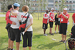November 11 2011 - Guadalajara, Mexico:  Team Canada's Remembrance Day ceremonies in the Athlete's Village at the 2011 Parapan American Games in Guadalajara, Mexico.  Photos: Matthew Murnaghan/Canadian Paralympic Committee