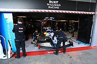 28th February 2020; Circuit De Barcelona Catalunya, Barcelona, Catalonia, Spain; Formula 1 Pre season Testing Week Two, Day 3; ROKiT Williams Racing mechanics work on George Russell car