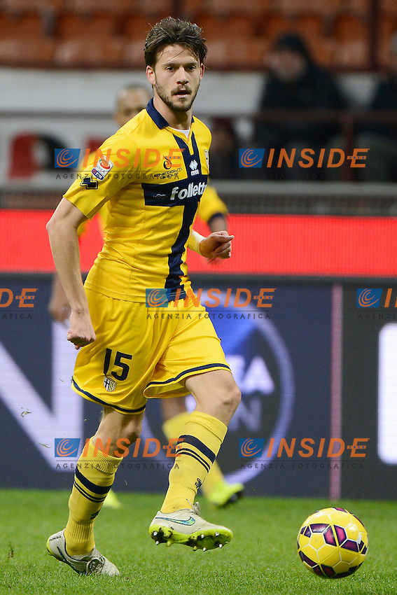 Andrea Costa Parma<br /> Milano 01-02-2015 Stadio Giuseppe Meazza - Football Calcio Serie A Milan - Parma. Foto Giuseppe Celeste / Insidefoto